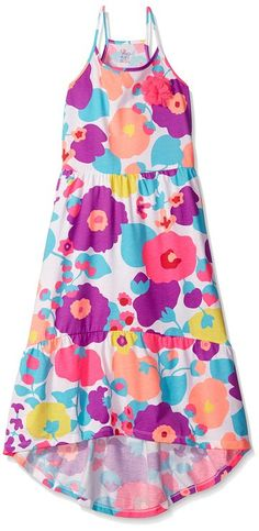 The Children's Place Girls' High Low Maxi with Applique Dress, 2016 Amazon Hot New Releases Girls  #Fashion