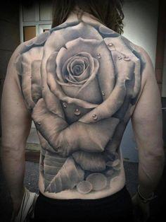 Back rose tattoo