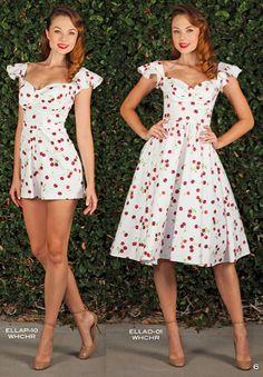 Stop Staring Ella Swing Dress - Spring/Summer 2016 - ELLAD -01 WHCHR White with Cherry Print Dress