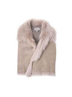 knit shearling vest
