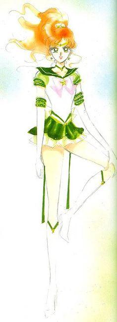 エターナルセーラージュピター / 木野まこと Eternal Sailor Jupiter / Makoto Kino - art by Naoko Takeuchi for Sailor Moon