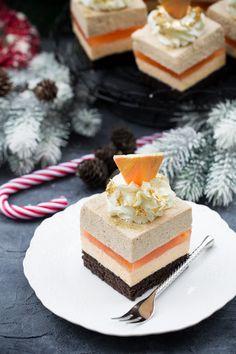 Kostka pomarańczowo piernikowa Polish Recipes, New Recipes, Malva Pudding, Homemade Cakes, Confectionery, Bourbon, Vanilla Cake, Cheesecake, Food Porn
