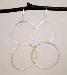 Interlocking Earrings by Cameron Kruse Designs on Scoutmob