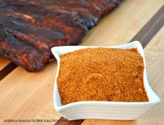 This savory, Memphis Style Rib Rub begins with paprika and extends from there with earthy ingredients like chili powder, cumin and coriander. Pork Rib Rub Recipe, Rub For Pork Ribs, Bbq Rub Recipe, Pork Rub, Dry Rub Recipes, Rib Recipes, Smoker Recipes, Grilling Recipes, Yummy Recipes