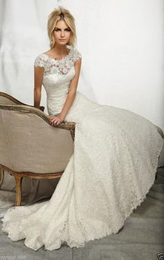 New white/ivory wedding dress Mermaid Trumpet custom size 2-4-6-8-10-12-14-16+++