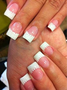 classy wedding nails | Design for the bride...subtle & classy. Nail artist: Tran | Yelp... *I FOUND THIS ON YELP. THOSE ARE NOT MY NAILS!*