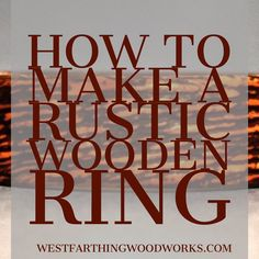 Wooden ring making is even more fun when you start adding in rustication techniques. This simple process using a wire wheel allows you to create a rough textured appearance and a contrasting stain effect on your wooden rings. You only need one small tool, and it's not expensive. Enjoy the post and happy building.