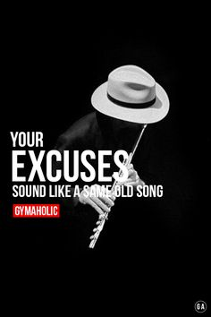 Your excuses sound like a same old song!  I'm not listening to that shit anymore.