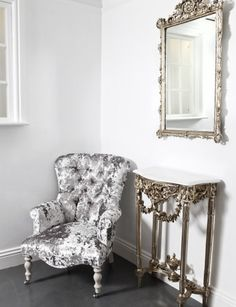 silver console and mirror set, silver crushed velvet chair (461x640)