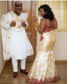 Couples Fabulousness😍👏👏👏 😍👏 👪May God Bless your Union 😍 😍 Photo dress : dress : Fan : : Photo and video Bride's hair : Groom's first outfit styled by : Agbada : : Groomsmen outfit by : by : cc: African Bridesmaid Dresses, African Prom Dresses, Latest African Fashion Dresses, African Dresses For Women, Nigerian Wedding Dress, African Wedding Attire, African Attire For Men, Nigerian Weddings, African Weddings