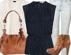 ♥ Casual Look mit stylischen Ankle Boots, Bluse und Cardigan ♥ #punkte #ootd #freizeitoutfit