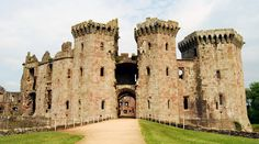 Raglan Castle, Monmouthshire - Constructed in the 1430s, Raglan Castle in Wales is incredibly well-preserved for having defended itself against Parliamentary forces for 3 weeks in 1646, and remains undeniably striking.