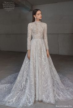 Exquisitely detailed and effortlessly romantic gowns for the modern bride. Muslimah Wedding Dress, Muslim Wedding Dresses, Dream Wedding Dresses, Bridal Dresses, Wedding Gowns, Long Sleeve Wedding, Dream Dress, Bridal Collection, Beautiful Dresses