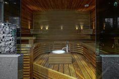 ylellinen-omakotitalo-sauna Saunas, Master Bathroom, Hardwood Floors, Interior Decorating, House, Toilets, Bathrooms, Ideas, Steam Room