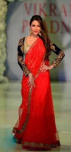 Designer Red Bridal #saree