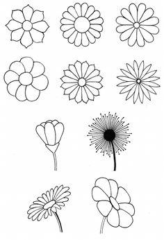 Desenho do Dia #205 - Algumas flores - Soraia Casal