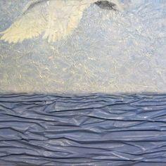 Päivyt Niemeläinen | Taiko Art Shop Linnut olivat jo lähteneet Waves, Birds, Artist, Profile, Outdoor, Painting, Facebook, Youtube, Shop