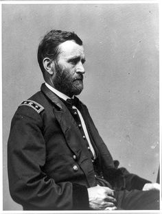 Ulysses S. Grant photographed by Mathew Brady circa 1860-1885. #civilwar