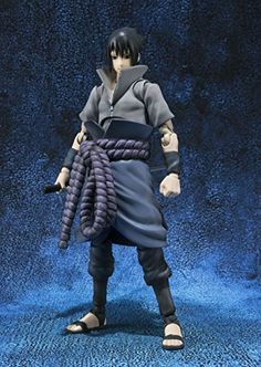"Bandai Tamashii Nations S.H. Figuarts Sasuke Uchia ""Naruto Shippuden"" Action Figure  The wait is over. Naruto's popular rival character Uchiha Sasuke is taking his place in the S.H.Figuarts line! Pose Sasuke with the awesome Chidori effect parts to recreate your favorite fight scenes from the anime, or pose him looking fierce with his katana! Set includes interchangeable face part, interchangeable hands and additional hair part. Perfect for displaying with S.H.Figuarts Naruto. Tamash.."