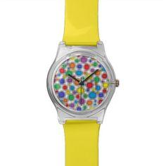 Blurred Polka Dots Watch