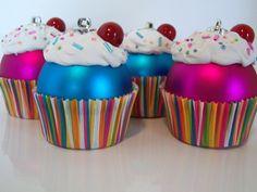 Boules de Noël cupcakes à bricoler!!