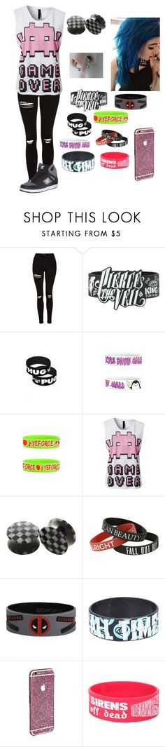 """""""Untitled #79"""" by thugpug887 ❤ liked on Polyvore featuring Topshop and Motel"""
