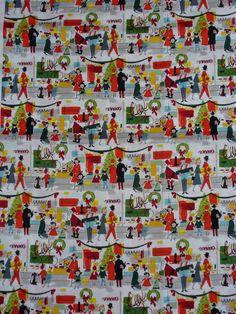 Alexander Henry - Merry Main Street - Fabric 1/2 yard. $9.50, via Etsy.