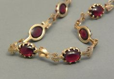 Garnet bracelet set in solid 9ct yellow gold by celticfinds, $127.00