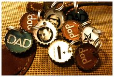 Bottlecap Keyring for Dad fathers day gift gift for by metalsgirl, $5.00  GREAT Find, I Love Them!