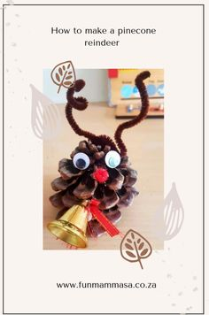 How to make a pinecone reindeer - Mamma & Bear