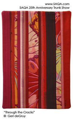 Art quilt by Geri deGruy #artquilts #SAQA #GoRed