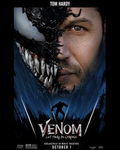 Click to View Extra Large Poster Image for Venom: Let There Be Carnage Michelle Williams, Tom Hardy, Forrest Gump, Marvel Movie Posters, Marvel Movies, Poster Series, New Poster, Tv Series, Skyfall