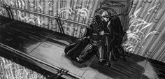 Return of the Jedi storyboard art from David Russell.