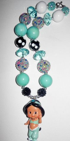 Jasmine chunky bead necklace.