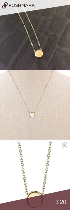 """Sterling silver necklace Simple gold sterling silver necklace , 18.4"""" chain Jewelry Necklaces"""