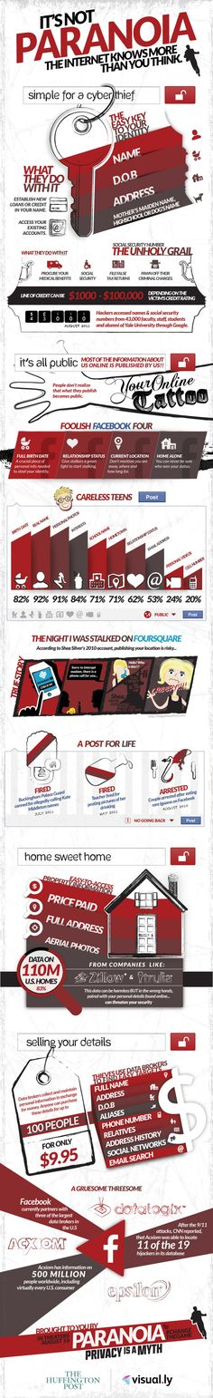 It's Not Paranoia: The Internet Knows More Than You Think Infographic