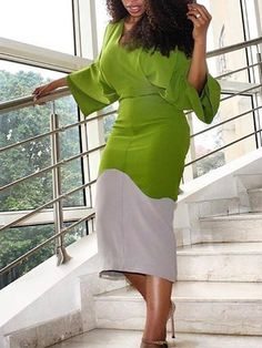 Classy Work Outfits, Classy Dress, Chic Outfits, Fashion Outfits, African Dresses For Women, African Attire, African Fashion Dresses, English Dress, Plus Clothing