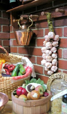 tiny veggies. Dollhouse miniatures
