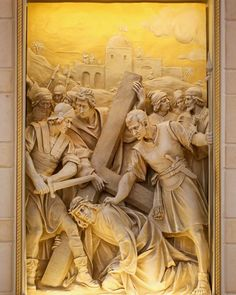 Stations of the Cross, St. John Vianney, Houston, TX. Designed, painted and detailed by Rohn & Associates Design.