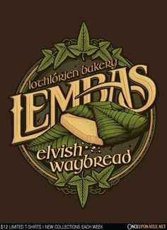 Once Upon a Tee - Lothlórien Lembas Bread tee