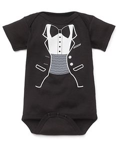 "Sara Kety ""Black Tuxedo"" Bodysuit - Sizes 0-18 months 