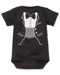 "Sara Kety ""Black Tuxedo"" Romper - Sizes 0-18 months - Newborn (0-9 months) - BABY - Kids - Bloomingdale's"