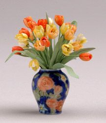 Yellow & peach tulips. Pepperwood miniatures.com. $300.00