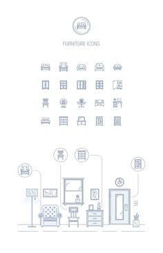 Furniture – Epic landing page icons by EpicShop on Creative Market