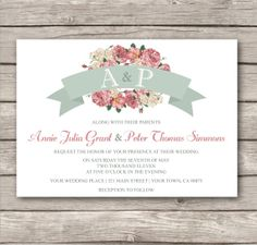 Country Chic Wedding Invitation and RSVP  by KateKellyDesigns, $28.00