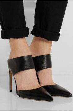 Visibly Interesting: Gianvito Rossi mules.