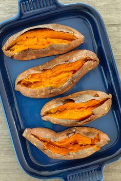 The Absolute-Best Way to Roast a Sweet Potato | Brit + Co | #healthyeating #vegetarian #veganfood #glutenfree