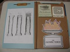 Ancient Greece lapbook - the girls want me to teach an Ancient Greece history class at co-op.