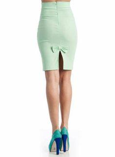 $16.95 high-waisted pencil bow skirt