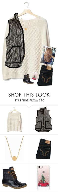 """""""Contest entry!! Day 2!!"""" by emily-wollan ❤ liked on Polyvore featuring Gap, J.Crew, Minnie Grace, Hollister Co., Sperry, Casetify and gabschristmascontest17"""